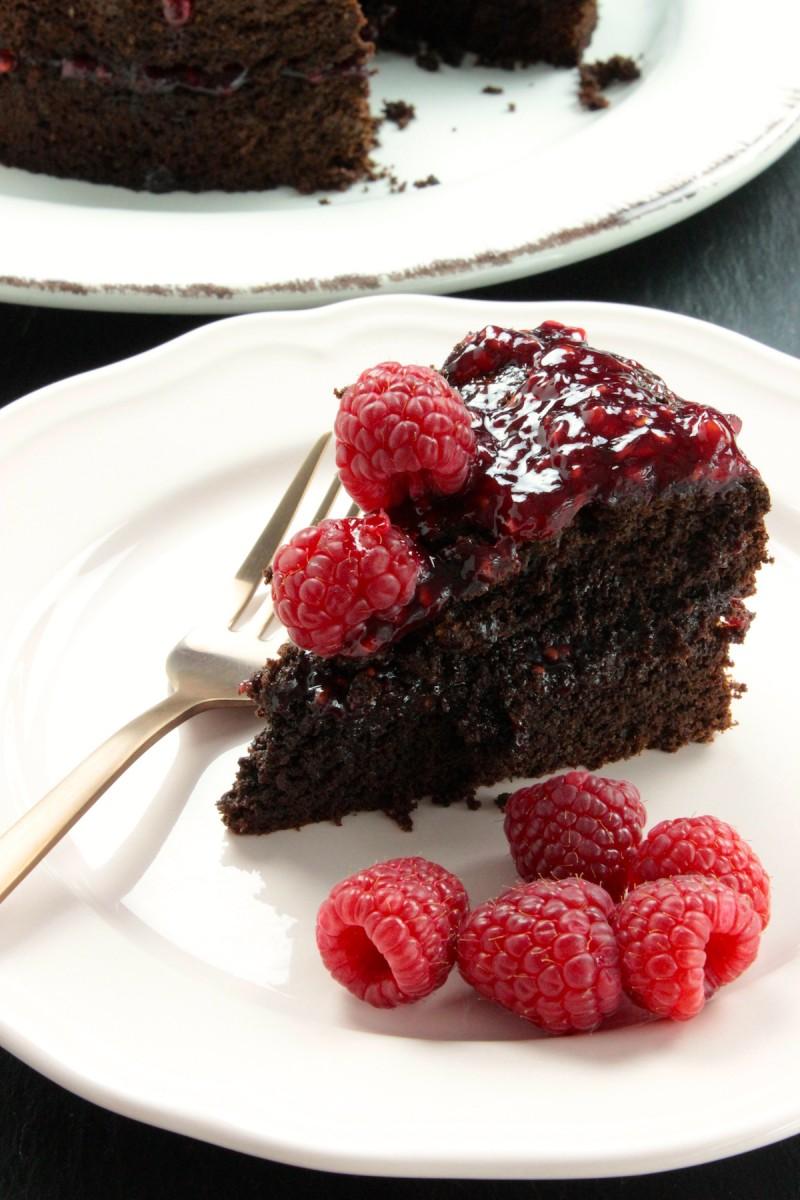 Gluten en lactosevrije chocoladetaart