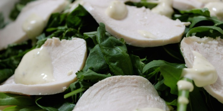 Poached chicken with lime