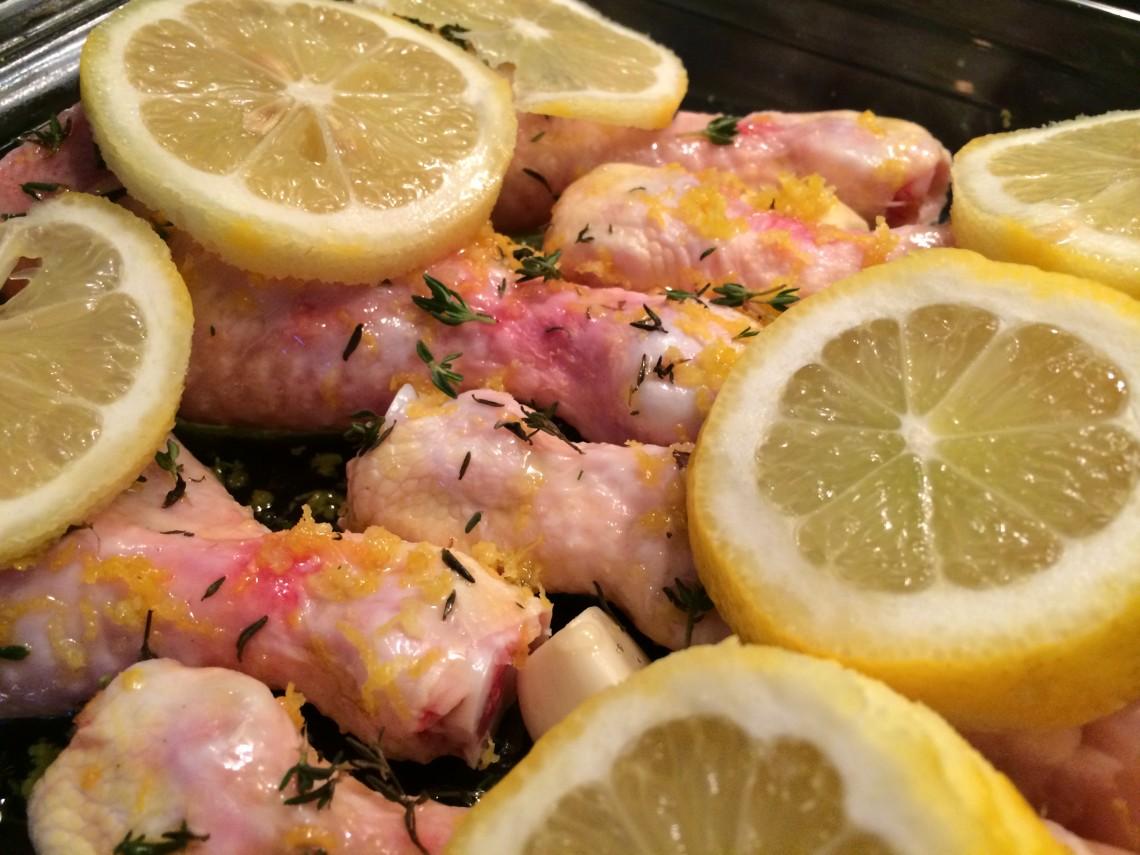 Kippenpoten met citroen