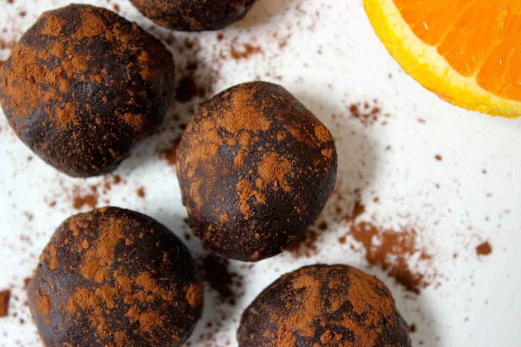 Chocoladeballetjes met sinaasappel