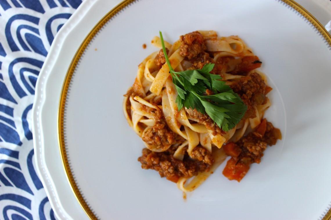 Glutenvrije pasta bolognese