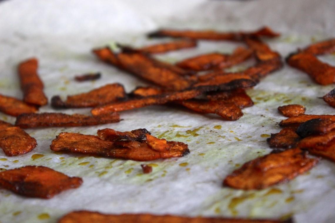 Glutenvrije wortelchips